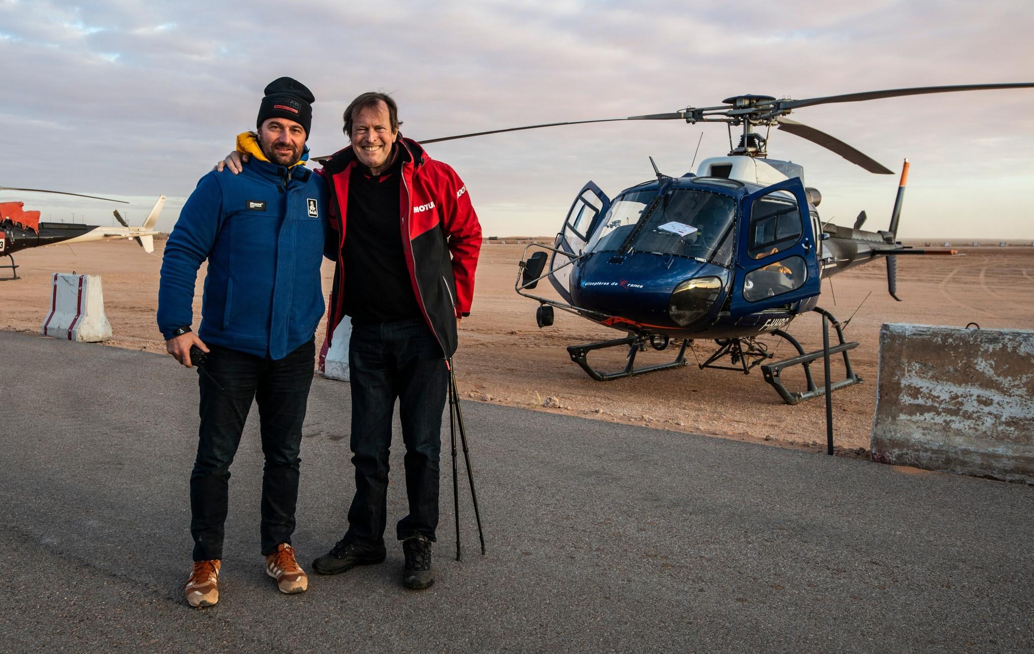Castera y Auriol, el año pasado en el Dakar.