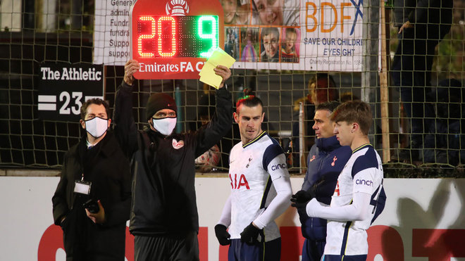 Bale returns as Tottenham see off minnows Marine in FA Cup