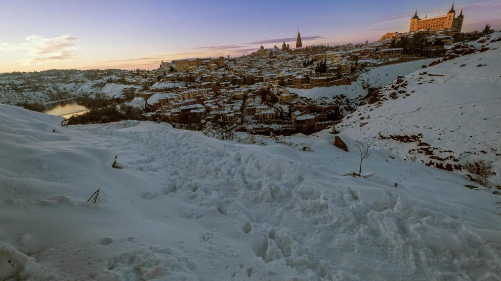 Nieve ola de frio placas de hielo Filomena temporal España Madrid