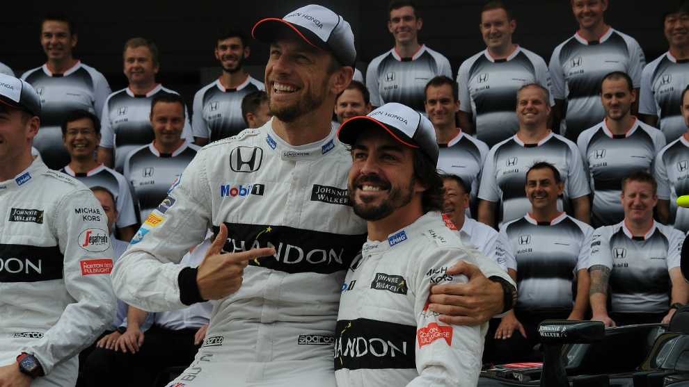 Button y Alonso.