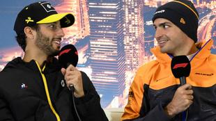 Ricciardo y Sainz.