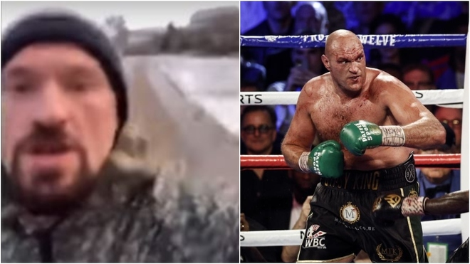 Tyson Fury prepares for Anthony Joshua fight by running in the snow