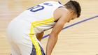 Stephen Curry se lamenta tras fallar un tiro