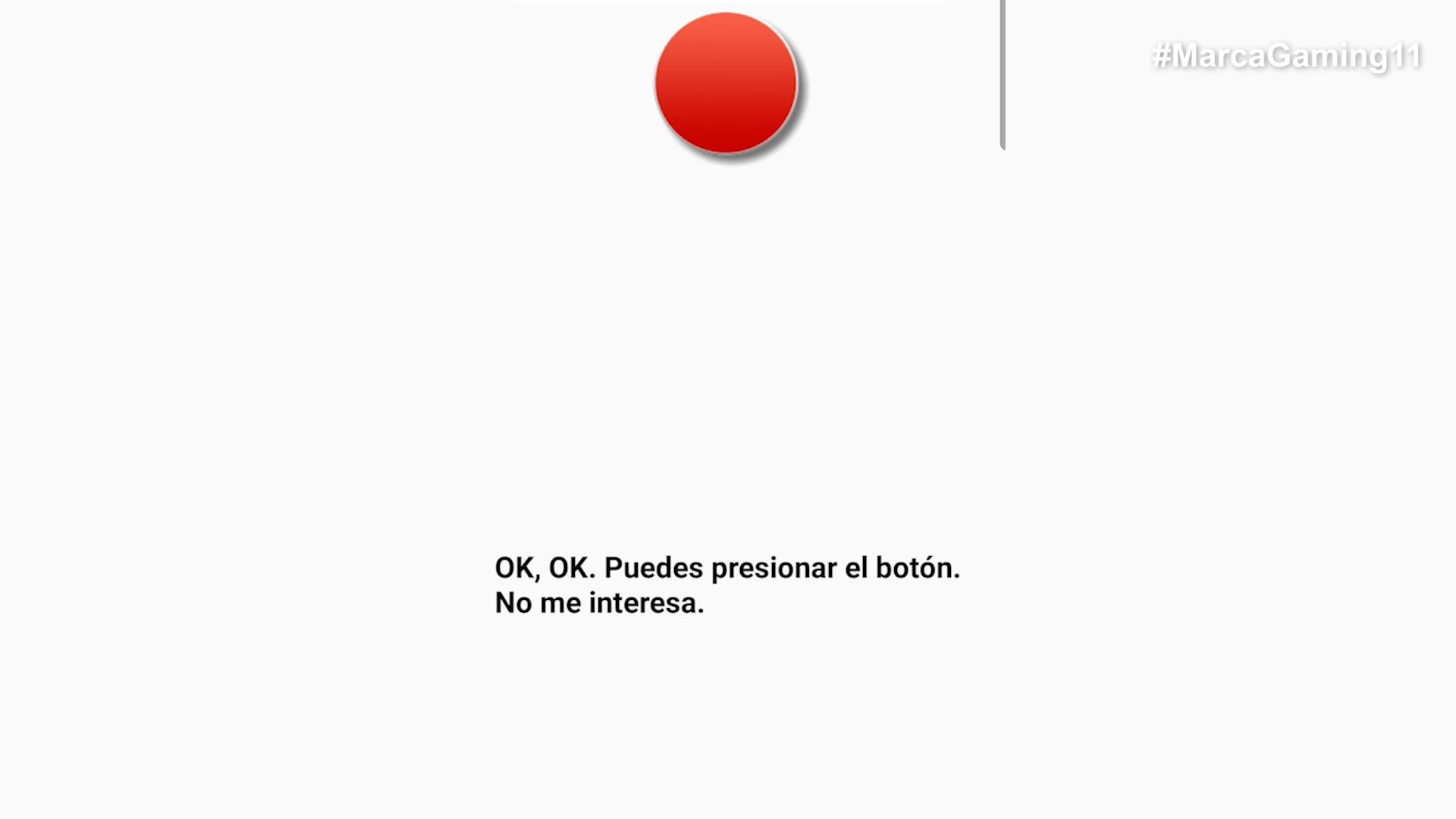 No presione el botón