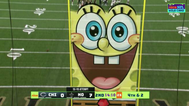 SpongeBob becomes the star of the NFL playoffs