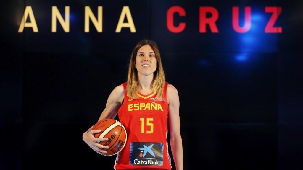Anna Cruz, en una presentación de la selección.