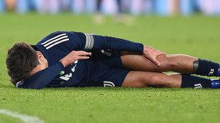 Dybala, lesionado ante el Sassuolo.