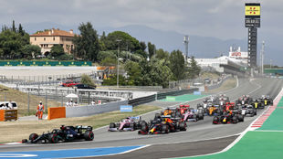 Salida del GP de España de F1 2020, en el Circuit de Barcelona...