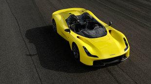 El Dallara no tiene parabrisas, ni puertas...