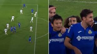 Llevaba 5 minutos en el campo y hace esto: la genialidad de Kubo para facilitar el gol de Mata
