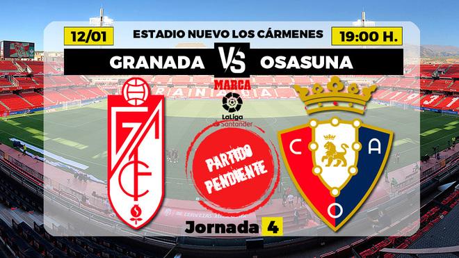 Granada - Osasuna: horario y dónde ver en TV el partido de la jornada 4 de Primera División