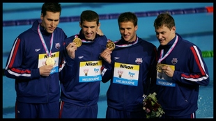 Keller, Phelps, Lochte y Vanderkaay, con el oro mundial en Melbourne...