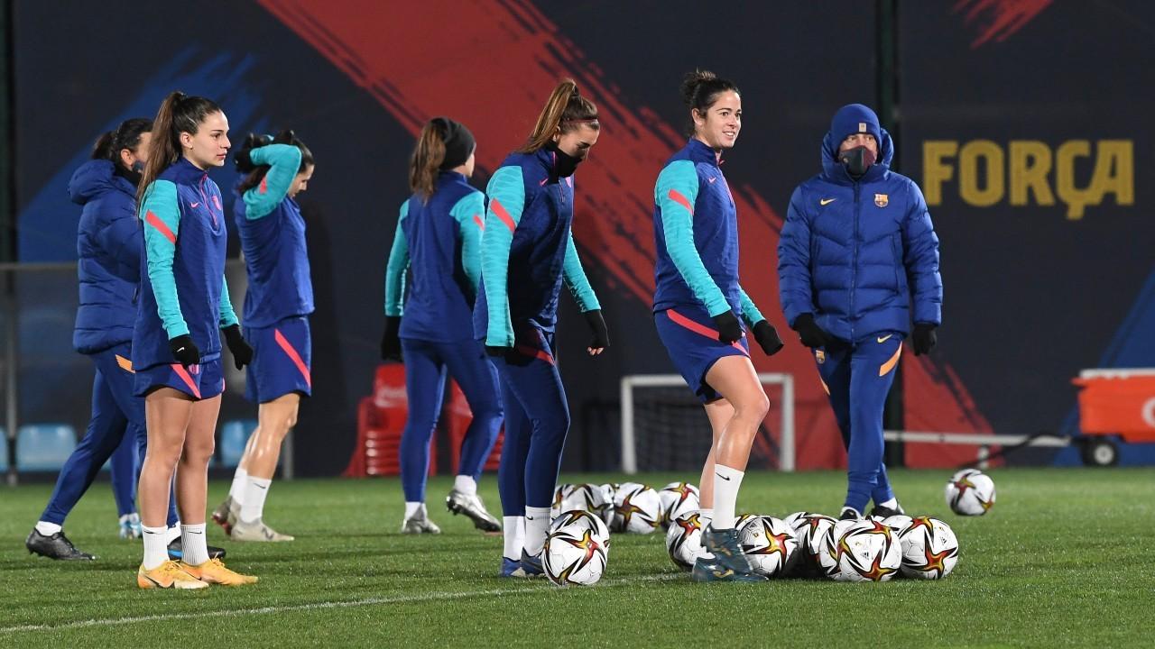 Entrenamiento del Barcelona este lunes en la Ciudad Deportiva Joan...