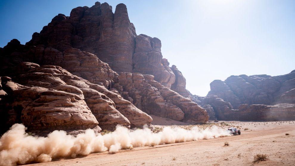 Carlos Sainz, en Arabia Saudí.