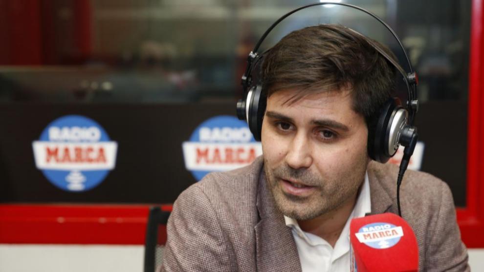 David Aganzo en los estudios de Radio MARCA