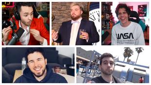 Cinco de los principales streamers españoles