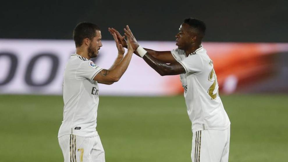 Hazard closes the door on Vinicius' progression