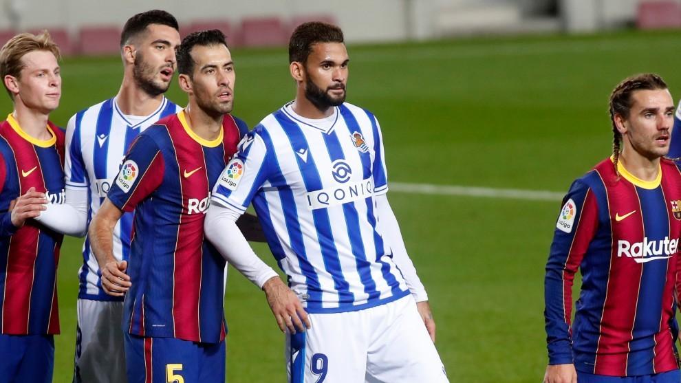 Alineaciones probables Real Sociedad - Barcelona del partido de...