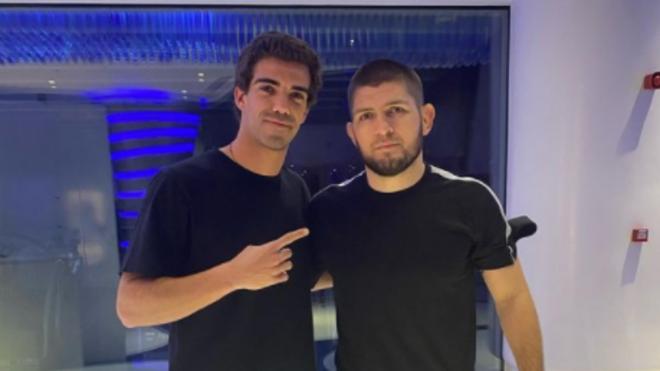 Juan Lebrón estuvo con Khabib Nurmagomedov en Dubái.