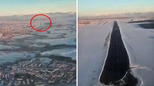 Alucinante es poco: Espectacular aproximación y aterrizaje de un avión en Barajas... ¡brutal!