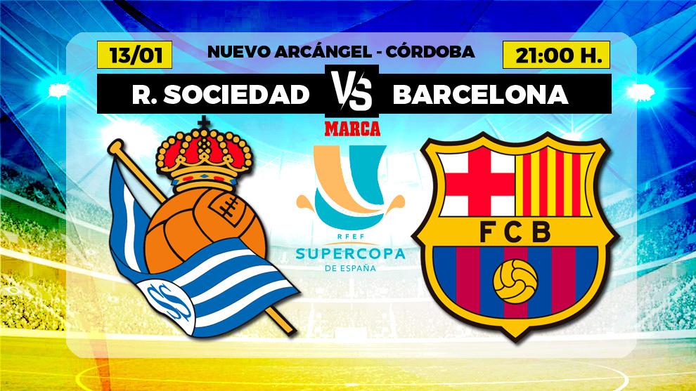 Real Sociedad - Barcelona: Horario, canal y donde ver hoy en TV la...