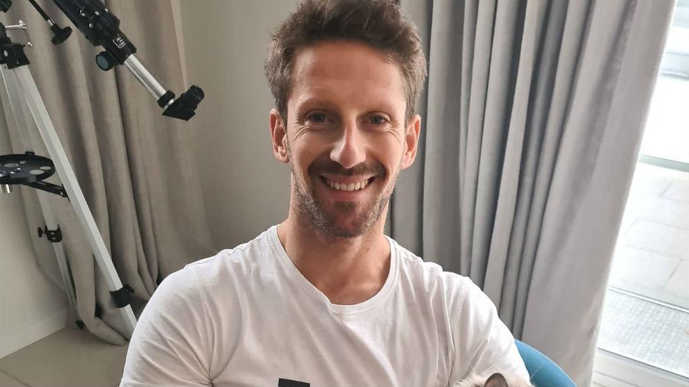 Romain Grosjean at his home in France.