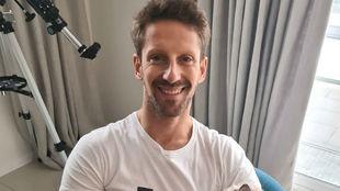 Romain Grosjean, en su domicilio en Francia.