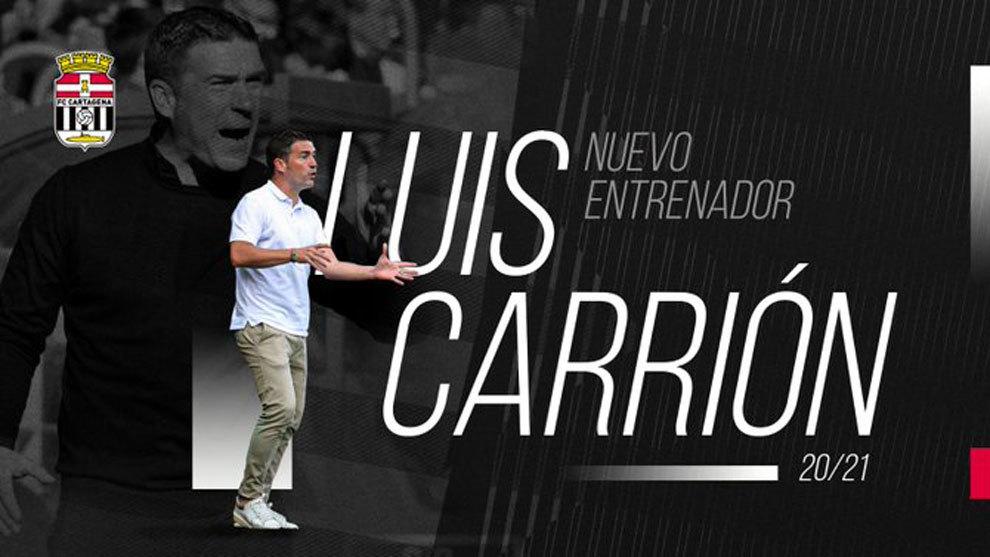Luis Carrión, nuevo entrenador del Cartagena tras un giro inesperado