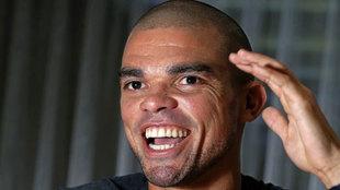 Pepe, durante una entrevista.