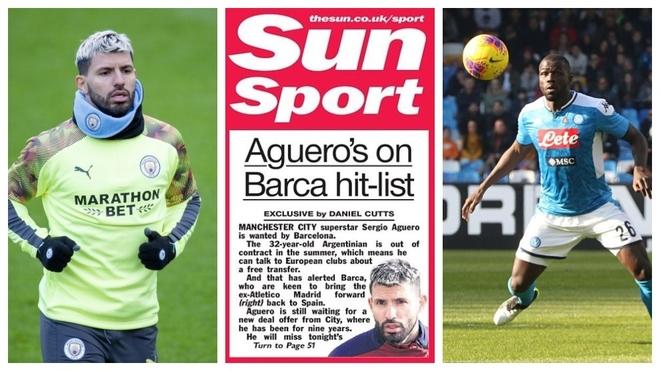 Transfer Market LIVE: Barcelona keen on Aguero, Koulibaly's price tag