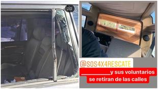 Dos vehículos de SOS4x4 con las ventanas rotas por agresiones de...