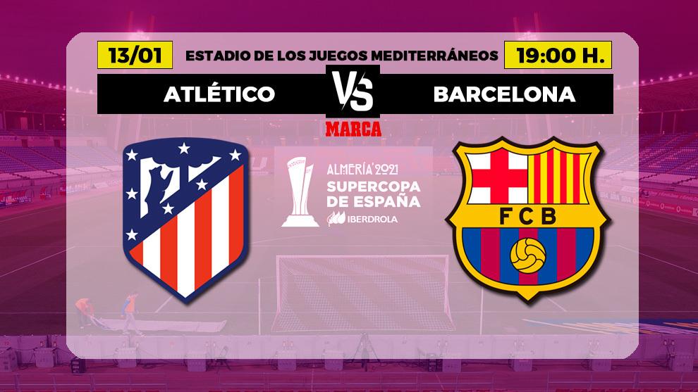 Cartelería de la segunda semifinal de la Supercopa de España...