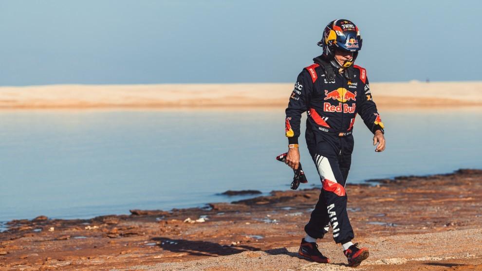 Sainz no pudo reducir distancias con la cabeza hoy.