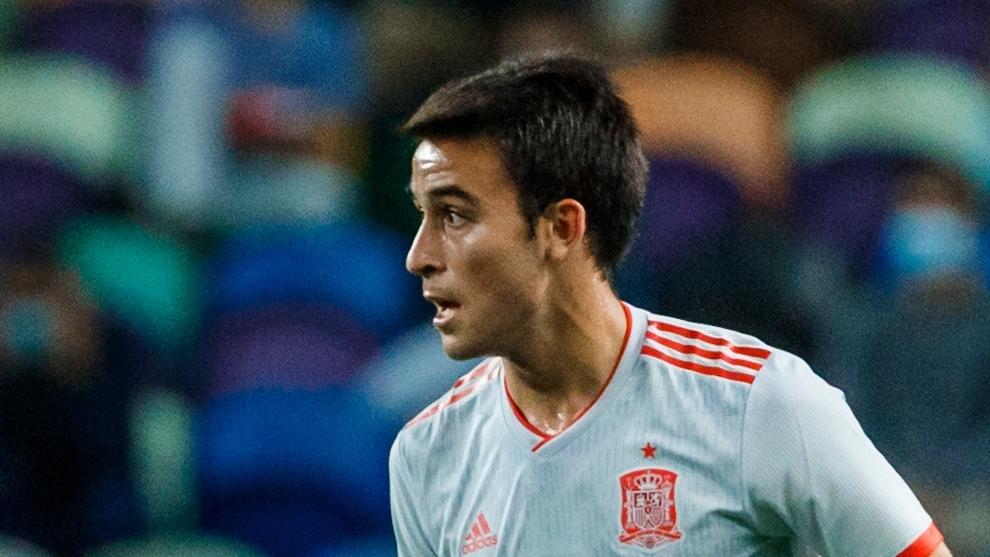 Eric García, en un partido de la selección española.