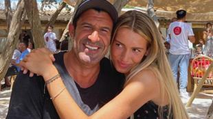 Luis Figo junto a su hija mayor Daniela Svedin Figo