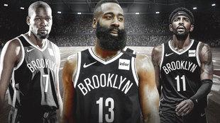 Kevin Durant, James Harden y Kyrie Irving, el nuevo tridente de la...