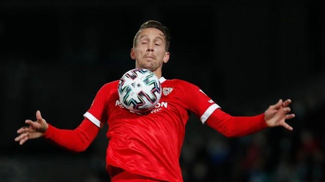 Luuk de Jong, en un partido de la Copa del Rey.