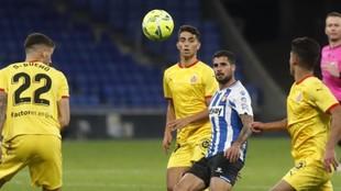 Fran Mérida, durante el encuentro contra el Girona.