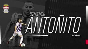 Antoñito, nuevo jugador del Cartagena