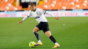 Cheryshev, en un partido con el Valencia en Mestalla esta temporada.