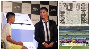 Ryota Iwaoka speaking to Ronaldo as a kid