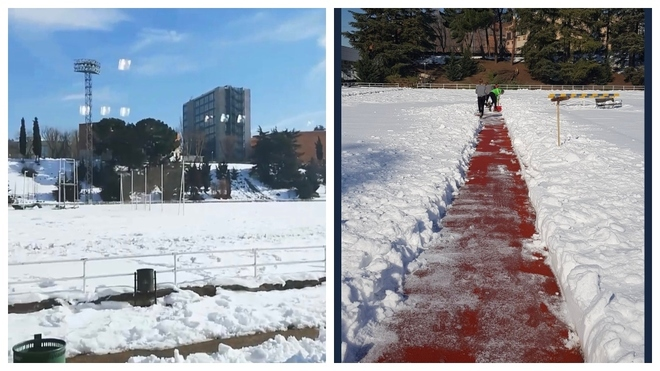 Deportistas critican el estado de las pistas del CAR de Madrid, aún llenas de nieve