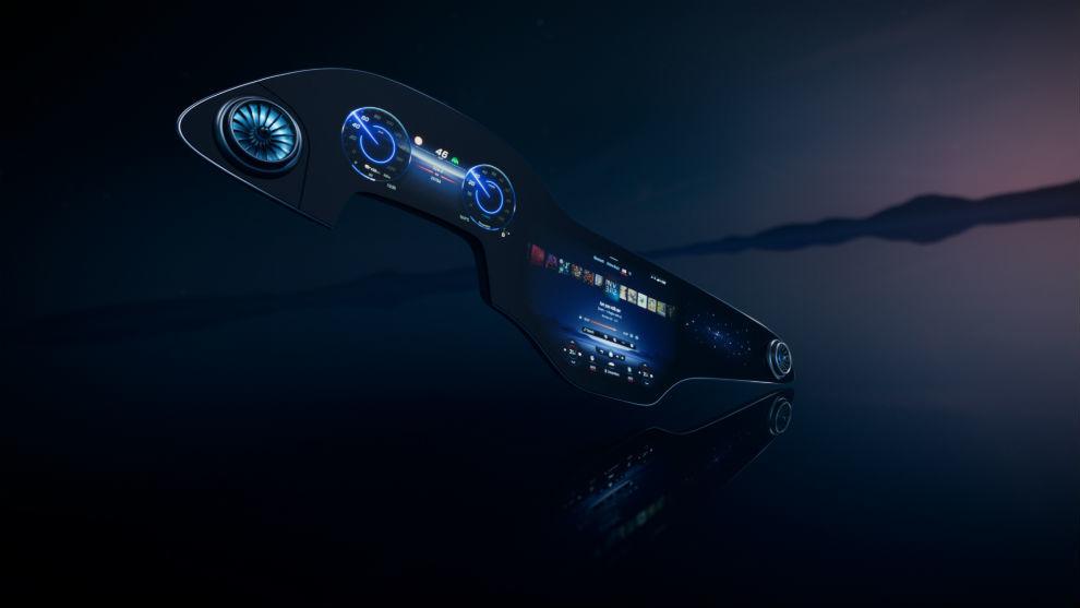 Mercedes presentó su nueva pantalla MBUX Hyperscreen que se estrenará en el EQS.