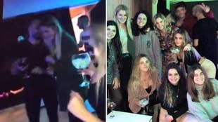 Imagen de  un vídeo de la polemica fiesta antes de los positivos en...