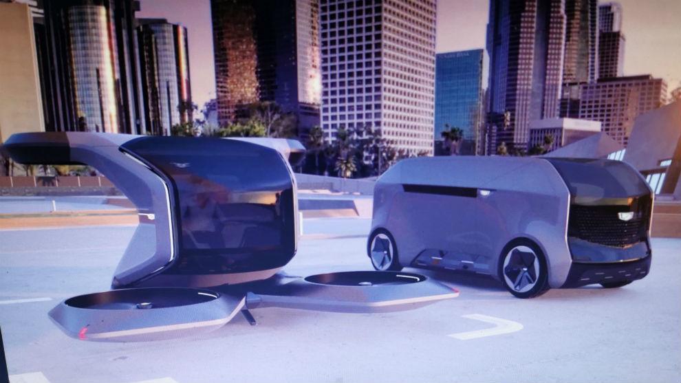 El taxi aéreo y el transportador autónomo de Cadillac.