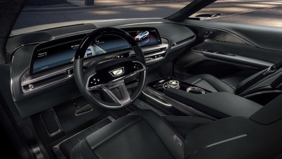 El interior del Cadillac Lyriq.