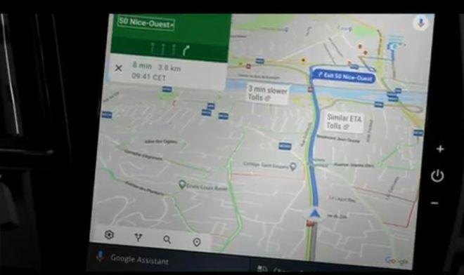 Google Maps en el sistema MyLink de Renault.
