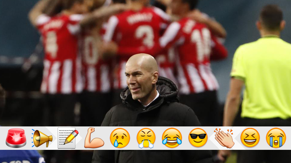 Zidane after one of the goals