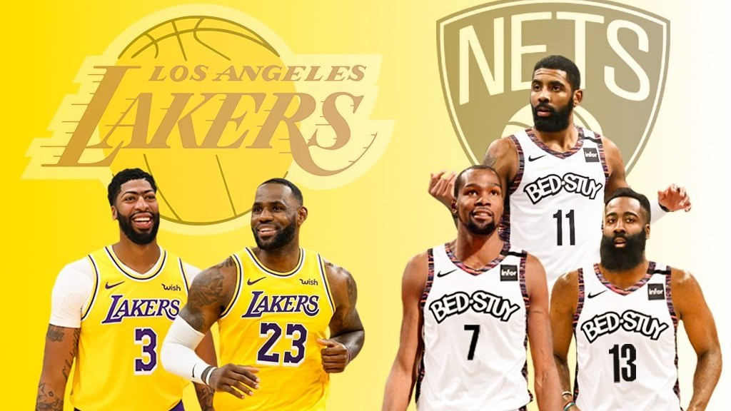 Desafío total entre Lakers y Nets:  el mejor dúo contra el mejor trío
