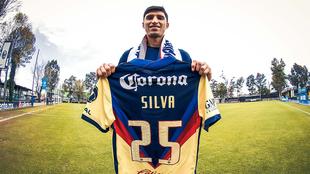 Silva, en su presentación con el América.